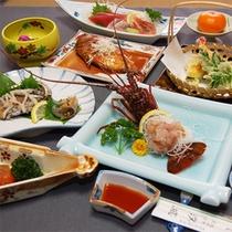 *伊勢海老+鮑コース一例/伊勢海老もアワビも両方食べたい欲張りさんにお勧め☆