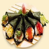 【秋冬限定】夕食はあったか~いテントで「手巻き寿司」