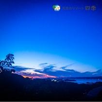 【景色】四季の郷からの夕景