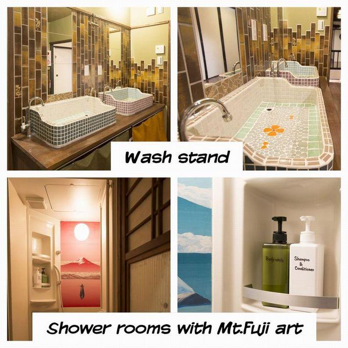 他のゲストの方との共同利用のシャワールームや洗面台、お手洗いはどのお部屋にも付いておりません。