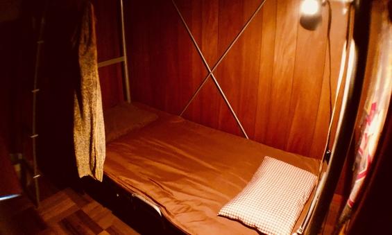 二段ベッドでお得に安心個室プランです!