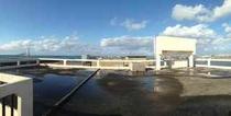 広々とした屋上 ~やどから見える海と空~
