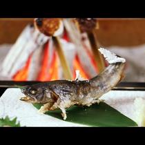 岩魚の炭火焼き