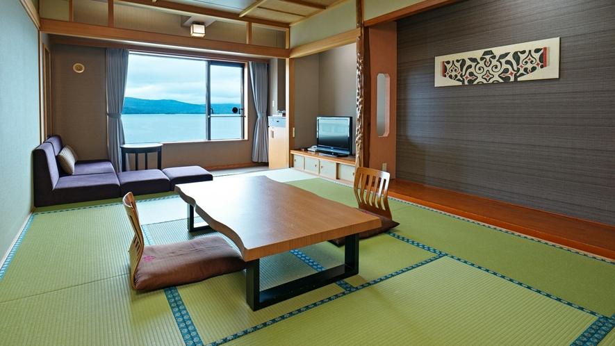 【湖側】和室/日本情緒を感じながらも快適にお過ごしいただける和室