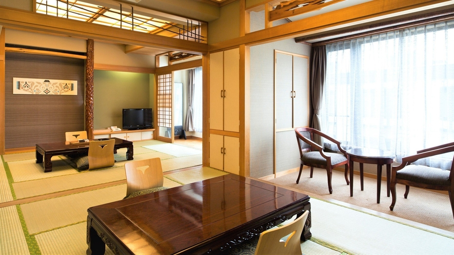 【山側】和室(客室一例)/グループ向けの広々客室(2間タイプ客室)