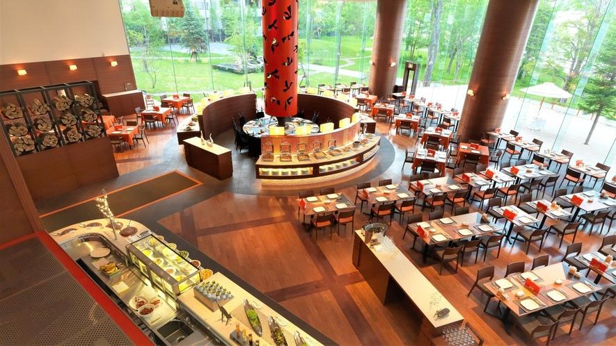 【ビュッフェレストラン「HAPO」】空間イメージは、まさに大地を照らす母のような太陽