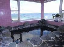 朝日が心地よい伊豆石の貸切展望岩風呂