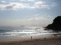 朝の静かな白浜を独り占め