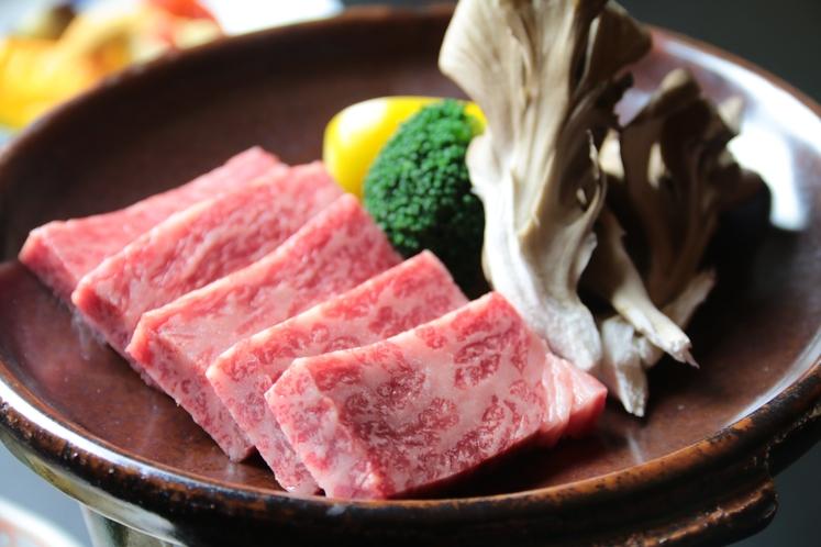 信州牛の陶板焼き