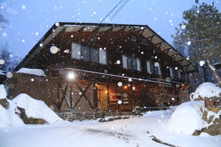雪の牧水苑