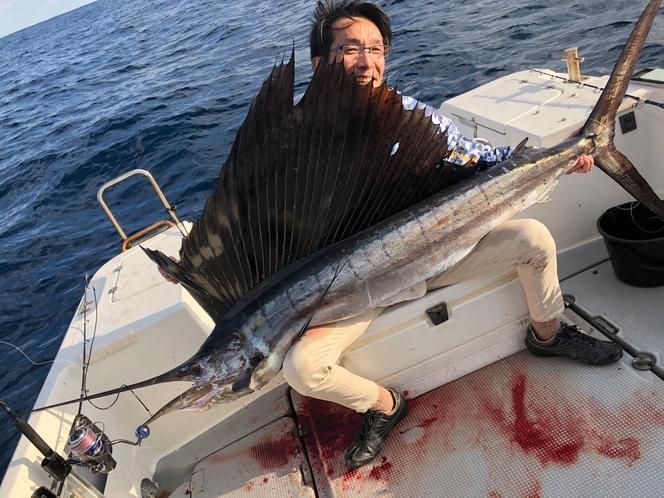 バショウカジキは年に8本釣れますよ!