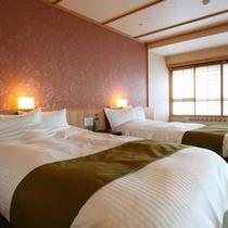 4階数寄屋風特別室のベッド