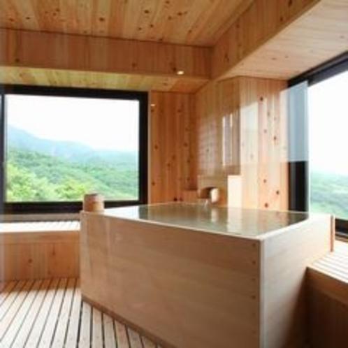 4階数寄屋風特別室の檜風呂