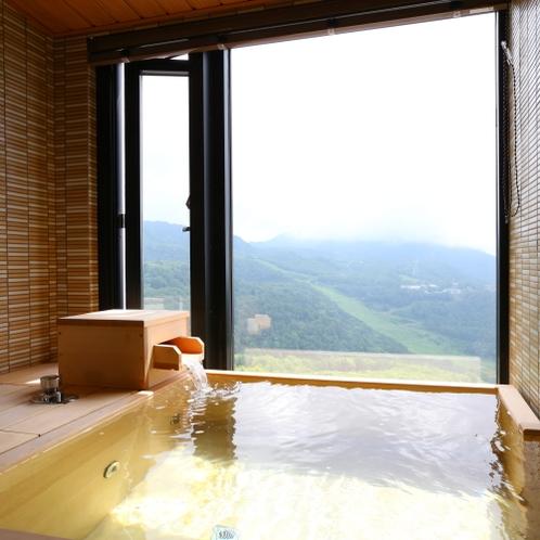 北アルプスを正面に望む眺望抜群の温泉展望風呂付和洋室【 青 峰 】