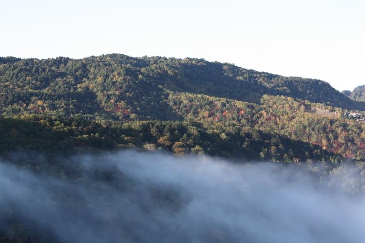 雲海の見えるロビー