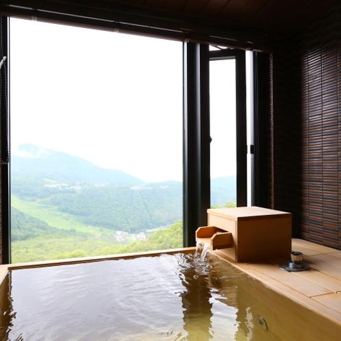 北アルプスを正面に望む眺望抜群の温泉展望風呂付和洋室【 山 蕗 】