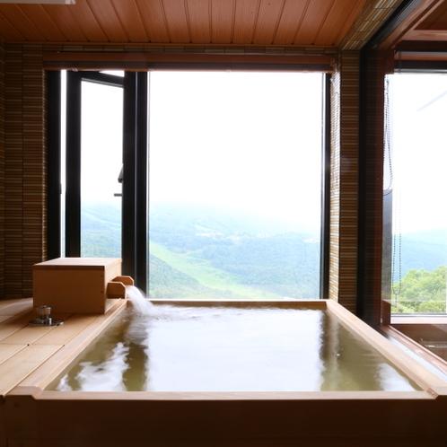 北アルプスを正面に望む眺望抜群の温泉展望風呂付和洋室【 茜 音 】