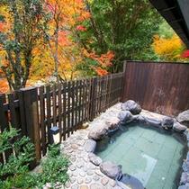 11月のシーズンには露天風呂より紅葉がお楽しみいただけます。