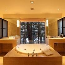 ≪バスルーム≫自然を眺めながらご入浴いただけるバスルームもございます※イメージ