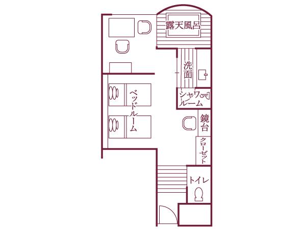 明見Bタイプ(542号室・38平米)/間取り図