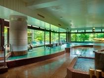 赤富士大浴場内湯(ご婦人)/鐘山苑の大浴場もお愉しみ下さい