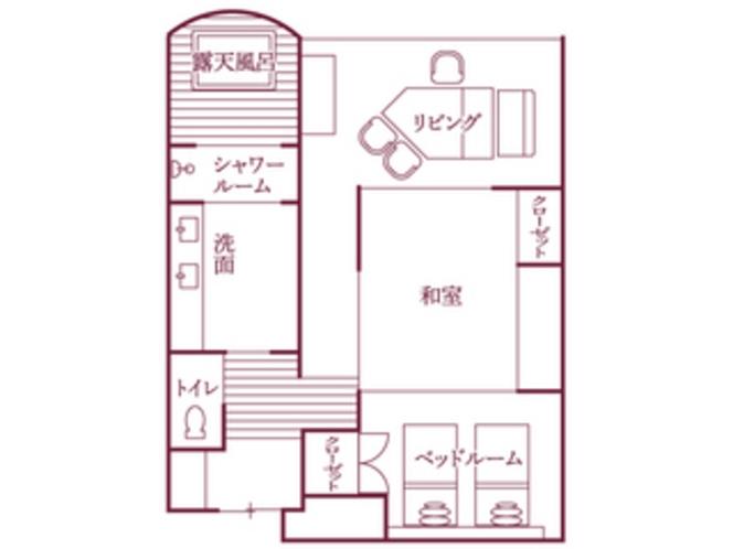 福地Bタイプ(544号室・70平米)/間取り図