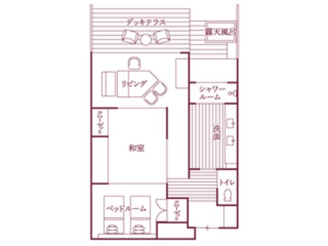 福地Aタイプ(443号室・85平米)/間取り図