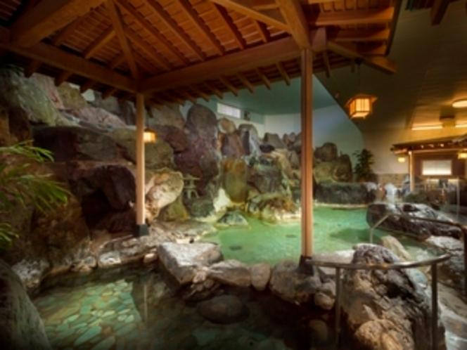 元湯大滝岩風呂内湯(ご婦人)/鐘山苑の大浴場もお愉しみ下さい