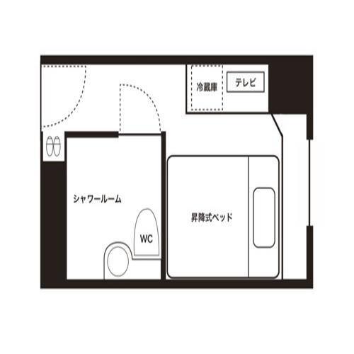 【シングルルームAタイプ】見取り図