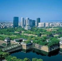大阪城:大阪城上空から