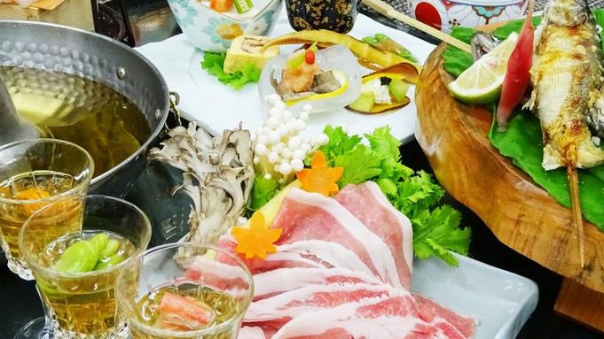 ■豚しゃぶ会席■厳選食材を堪能!上州ブランドもち豚しゃぶしゃぶと和食会席-2食付-