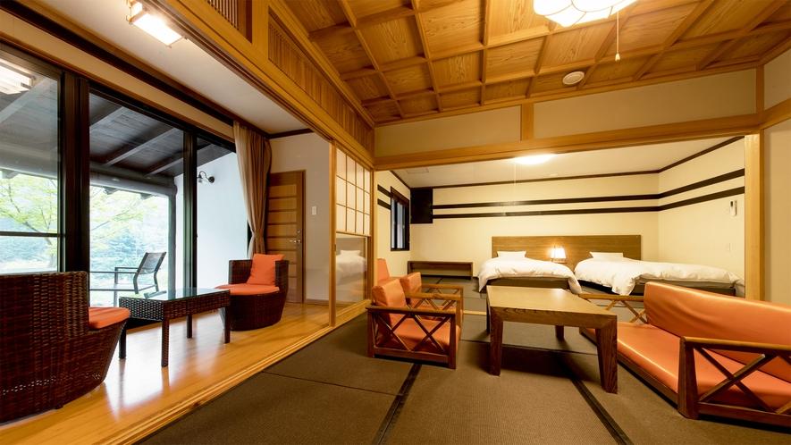 *和室二間/ソファセットでくつろげる8畳の居間