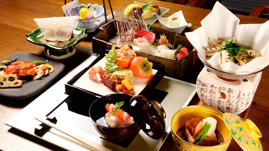 *旬会席一例/料理に投影されるのは四季の季節の営み