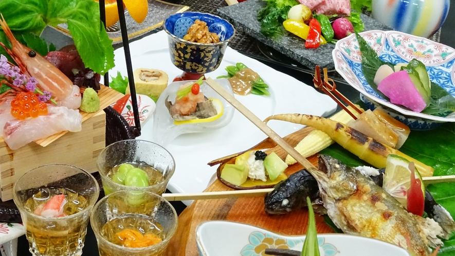 *旬会席一例/目にも美しい和会席料理をお楽しみください