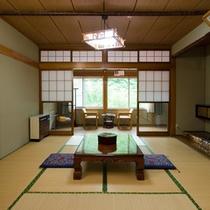 *和室8畳一例/シンプルな造りの和室。テレビも電話もありません。