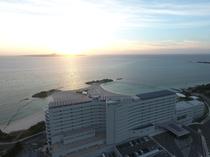 ホテル外観 空撮