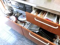 【調理用器具】自宅感覚で使えるよう各種調理器具を取り揃えております