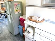 【炊飯器・冷蔵庫】大きな冷蔵庫は食材の保存にも便利です