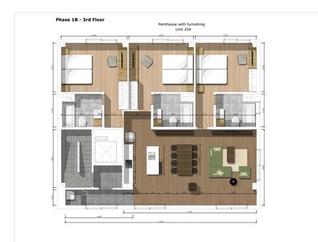【ペントハウス】112平米 3ベッドルーム204