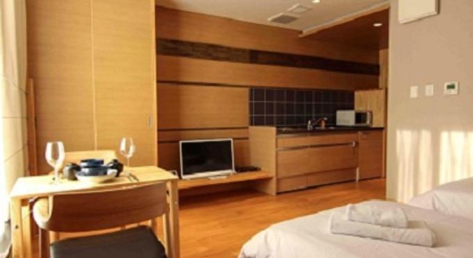 白馬のリゾートホテルで暮らす。コネクティングルーム、キッチン付き、洗濯機、エアコン完備、6泊7日