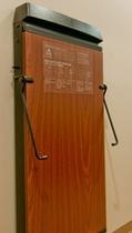 コルビー社製壁掛式ズボンプレッサー(全室完備)