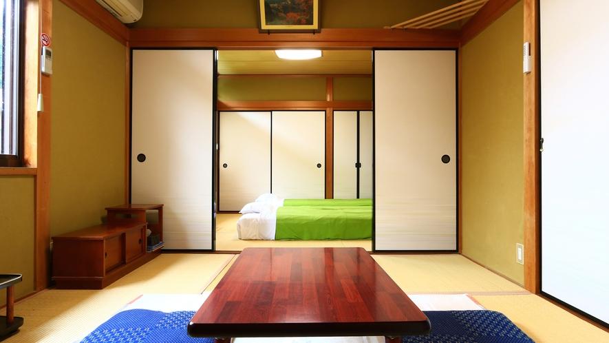 和室4.5畳2間【柚子】寛げる空間