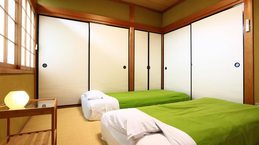 和室4.5畳2間【柚子】ゆっくりお休みください