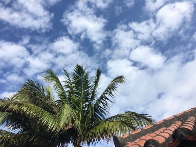 美しい竹富島の空