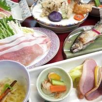 *【夕食一例】地元魚沼の素材を大切にした料理の数々をどうぞ。