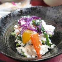 *【夕食一例】やさしい触感の豆腐料理です。
