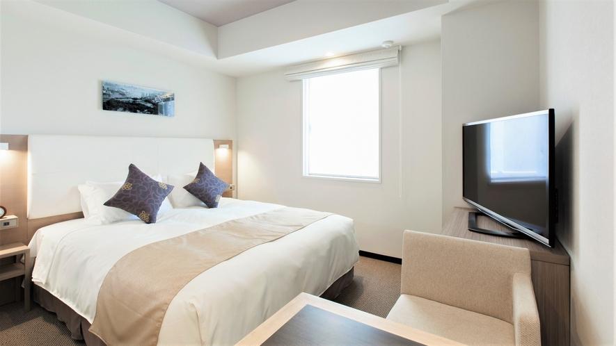 【レジデンシャルダブル】ゆとりある広さと充実した設備で長期ステイにもおすすめのお部屋。