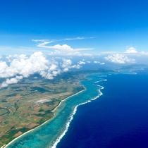 **【周辺観光】石垣島/上空から見た景色