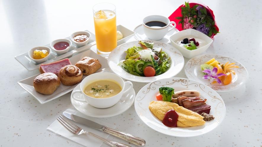 *朝食/洋食のプレート朝食一例です。