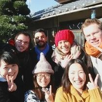 海外からのゲストさんも多いです!国際交流も楽しめるかも!